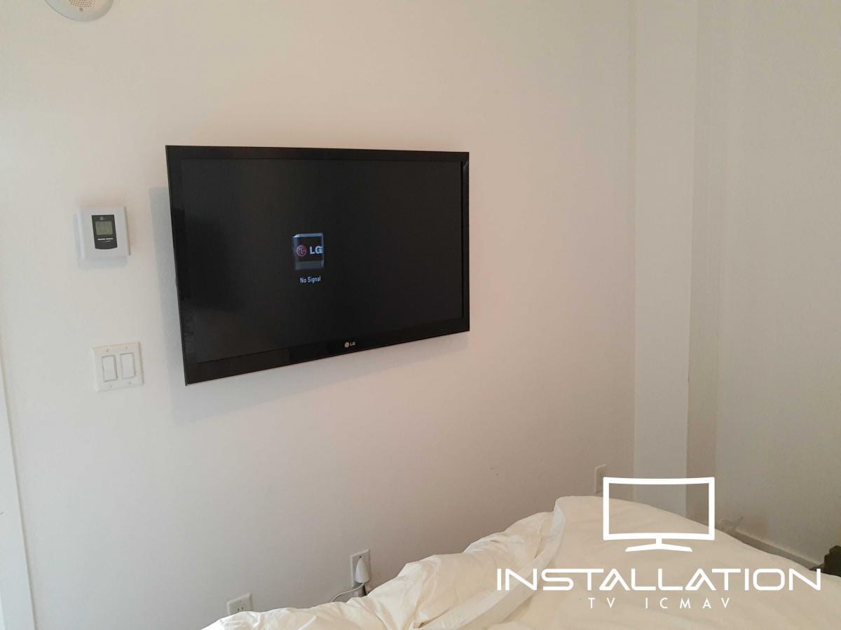 Installation murale TV - Installation TV ICMAV